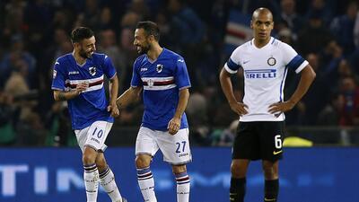 Inter sigue sin levantar, ahora cayó por la mínima ante Sampdoria