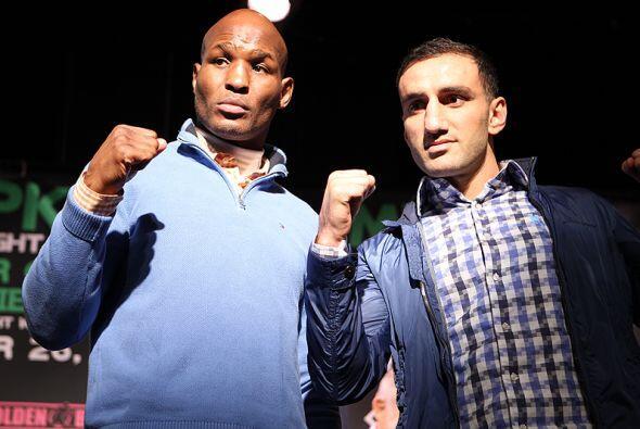 Bernard Hopkins y Karo Murat dieron la conferencia de prensa antes...
