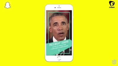Obama en Snapchat