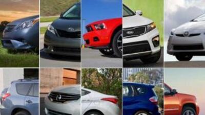 Los 10 mejores autos del 2011 son de seis fabricantes y ocho marcas, re...