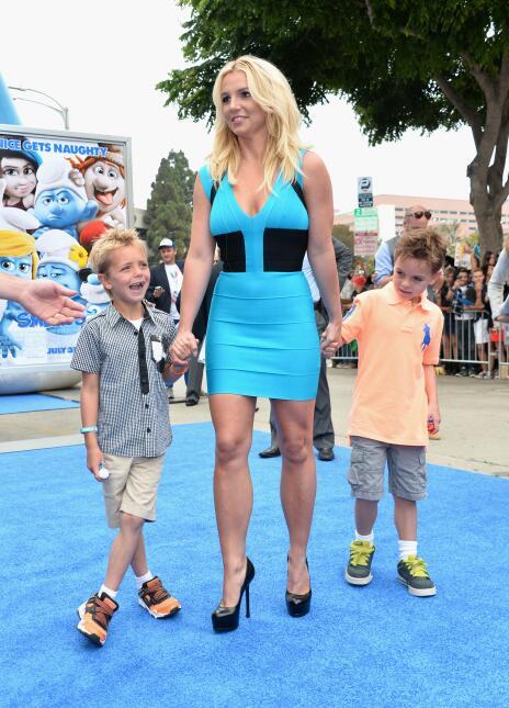 Singer Britney Spears and her sons Sean Federline and Jayden James Feder...