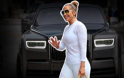 JLo va al gym en Rolls Royce