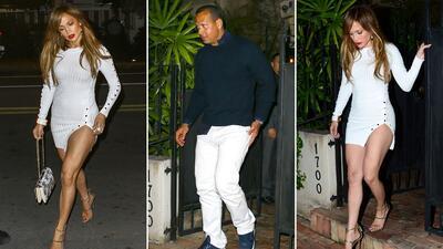 Captado en cámara: Jennifer Lopez y Alex Rodriguez juntos en un restaurante en Miami