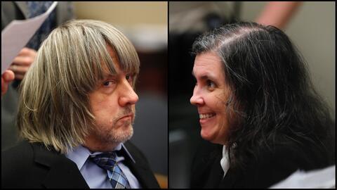 David y Louise Turpin en la audiencia judicial del miércoles 24 d...
