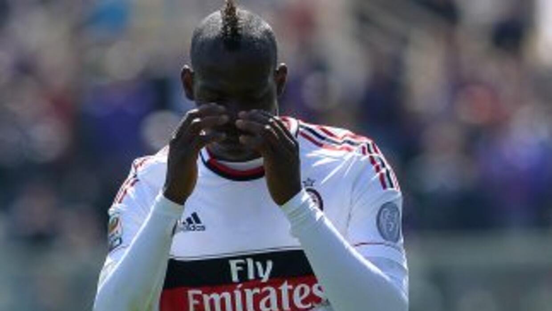 Balotelli, quien se fue en blanco luego de una racha goleadora, se lamen...