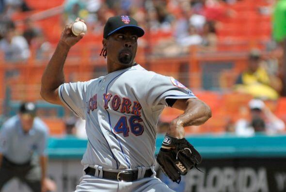 RP. Manny Acosta. Mets de Nueva York.  El lanzador lanzó para un porcen...