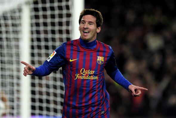 Messi también convirtió el 4-0 con un excelente disparo a la porteria de...