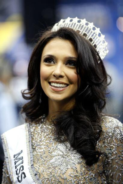 La belleza no podía faltar en el Media Day, Miss New Jersey, Emil...