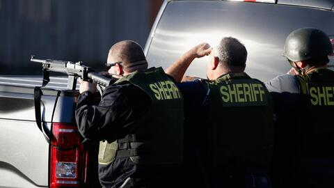 Agentes responden al tiroteo en San Bernardino