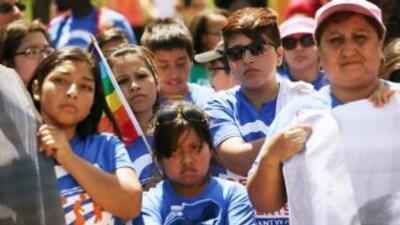 Dreamers (soñadores) durante una manifestación en apoyo a la Acción Ejec...