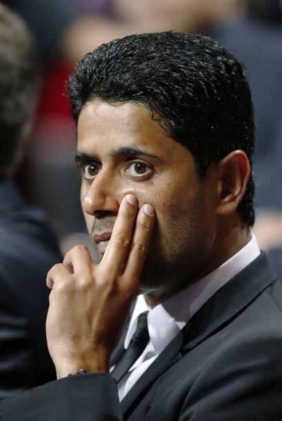 El presidente del PSG pensativo luego de saber que le tocó compartir gru...