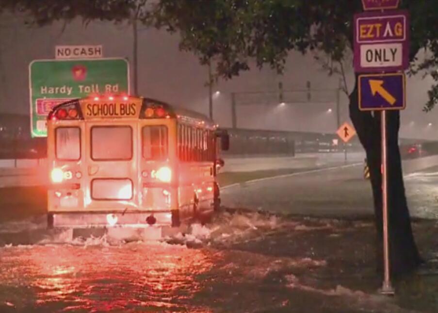 Lluvias causan inundaciones en Houston