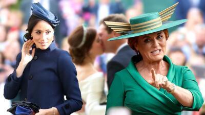 ¿Invitado no deseado? El embarazo de Meghan se 'coló' en la boda de Eugenie y Fergie se 'vengó' el lunes