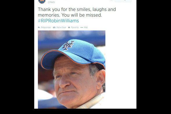 Los Mets de Nueva York, también recordaron al actor