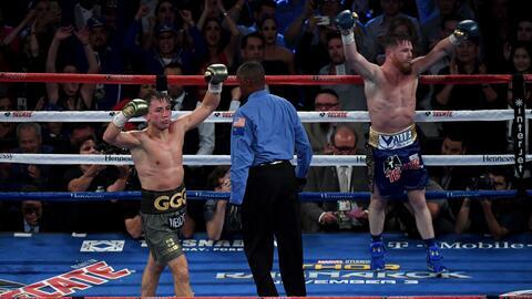 Ambos boxeadores se vieron ganadores y quieren otra pelea.