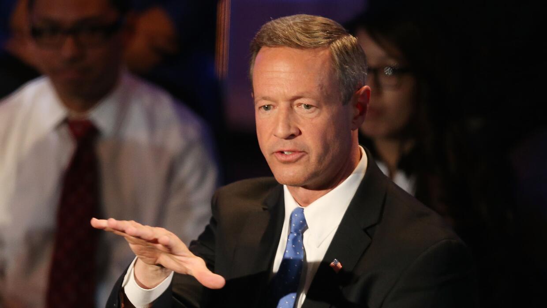Martin O'Malley durante su intervención en el Brown and Black Forum