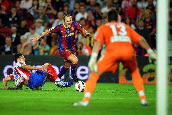 Andrés Iniesta fue de los mejores jugadores del Barcelona y parec...