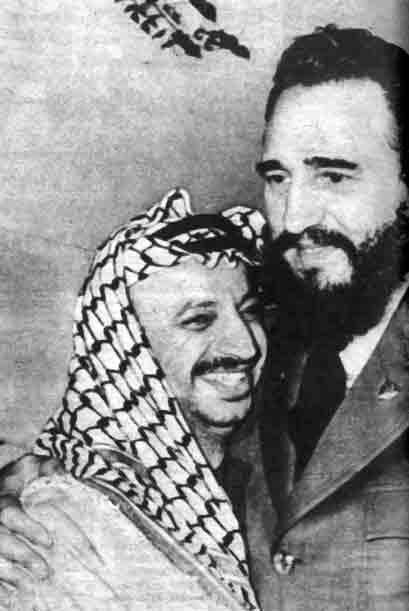 Aquí con el líder Yasser Arafat.