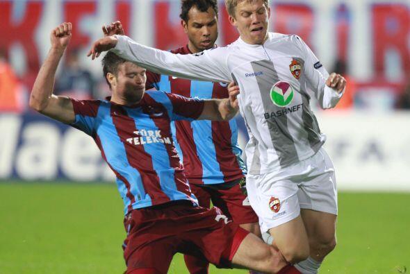 CSKA de Moscú empató con el Trabzonspor en un partido muy aburrido.