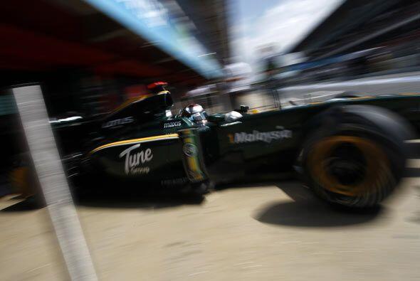 Kovalainnen no pudo arrancar con su Lotus por fallas mecánicas.