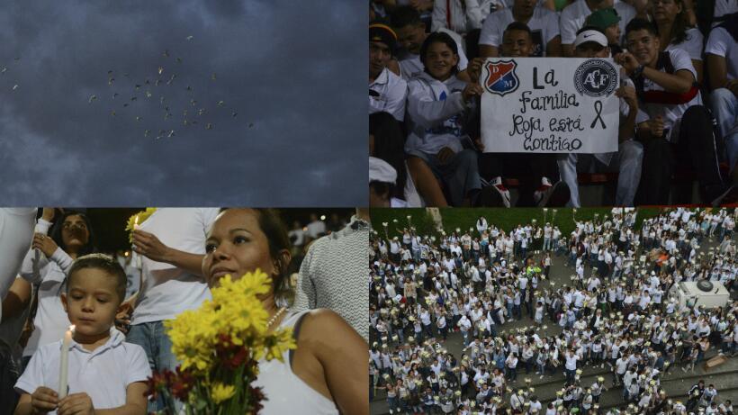 El mundo del fútbol homenajeó al Chapecoense Getty-primera.jpg