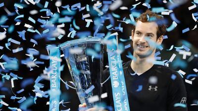Andy Murray se quedó con el Masters de Londres y cerró el 2016 como el número uno del tenis