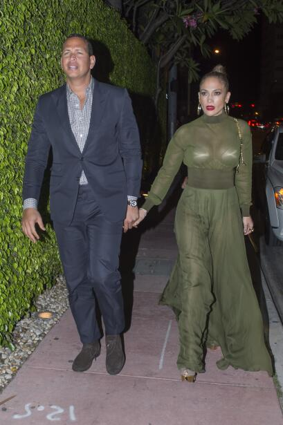 Jennifer Lopez holds hands with new boyfriend Alex Rodriguez in Miami d...
