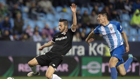 El Sevilla se llevó el duelo andaluz ante el Málaga con go...