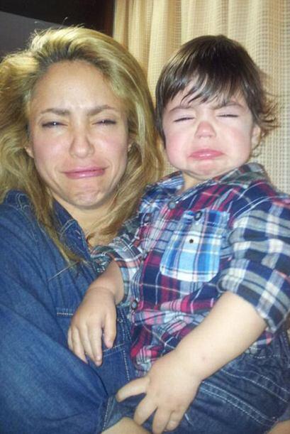 Casi morimos de un ataque de ternura al ver al príncipe de Shakira llora...