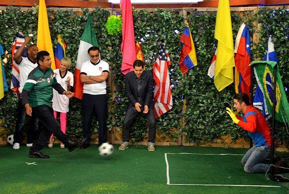Para finalizar la competencia, George Lopez cobró de manera magistral su...