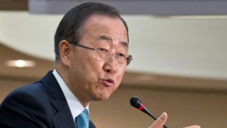 Ban Ki-moon, secretario general de la Organización de Naciones Unidas.