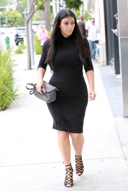 Las cámaras no dejan de seguir a la embarazada Kim.