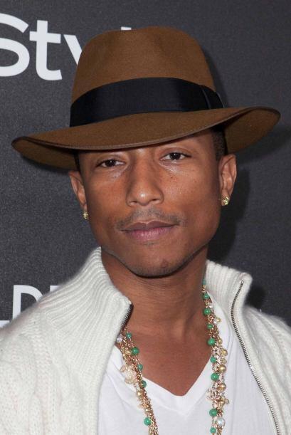 8.- A sus 40 años Pharrell luce más joven, alguna vez le preguntaron si...