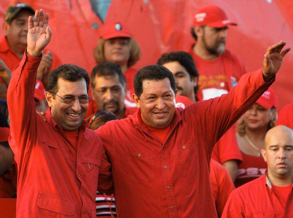 Adán Chávez, left, the older brother of the ailing President Hugo Chávez...