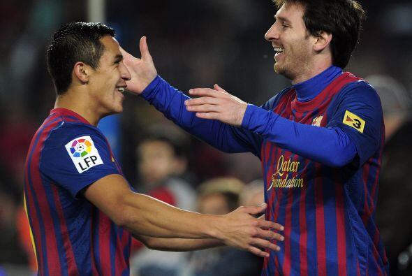 Messi y Sánchez, dos de los goleadores del partido.