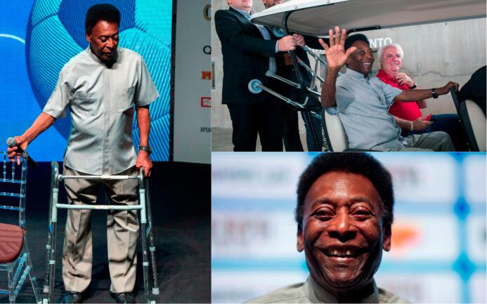 ¿Problemas del 'Rey'?: Pelé acude con andador a ceremonia y dice que es...