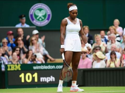 Así es, la número uno del mundo, Serena Williams, fue dest...