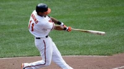 El segunda base de los Orioles remolcó cuatro de las ocho carreras que t...