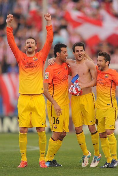 Con polémica y algo de suerte, los 'culés' celebraban el título de Liga...