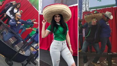 Así se divierten El Bueno, La Mala y El Feo en la sede del partido entre México e Islandia