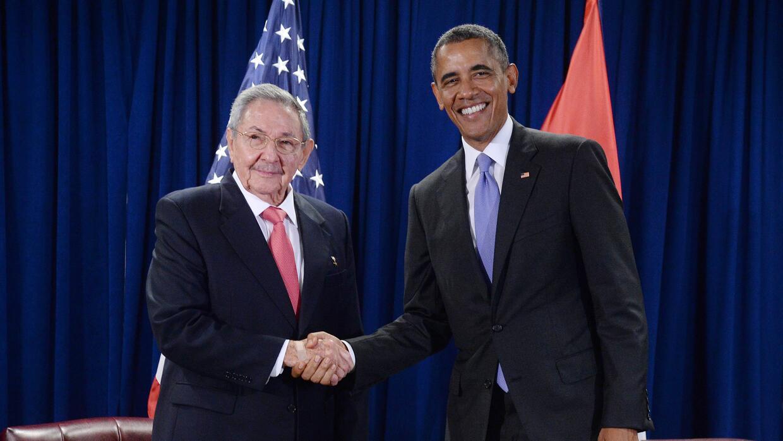 Raúl Castro y Barack Obama en septiembre de 2015 en Nueva York