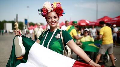 Emoción por el sueño mundialista: las fanáticas del Tri pintaron de verde el Samara Arena