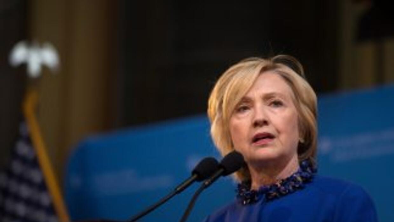 La aspirante a la candidatura demócrata habló sobre las protestas de Bal...