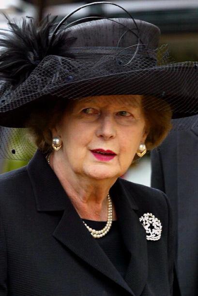 Conocida como la Dama de Hierro, la ex primera ministra británica, Marga...