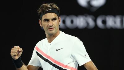 Roger Federer debutó con victoria en el Abierto de Australia 2018.