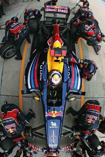 El equipo de Reb Bull tuvo un trabajo mucho más eficiente en los 'pits'.