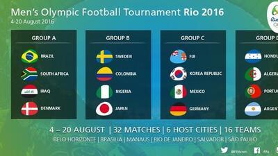 Así quedaron los grupo para el fútbol de los Juegos Olímpicos de Río.