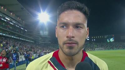 Bruno Valdez, contento con su gol y el empate de visita 1-1 ante Santos