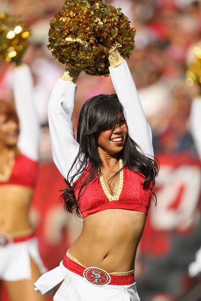 Con tres años como porrista de los San Francisco 49ers, María no deja de...