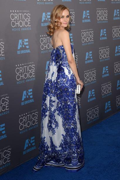 El vestido de  Diane Kruger no tenía forma de nada, y por consecuente, s...